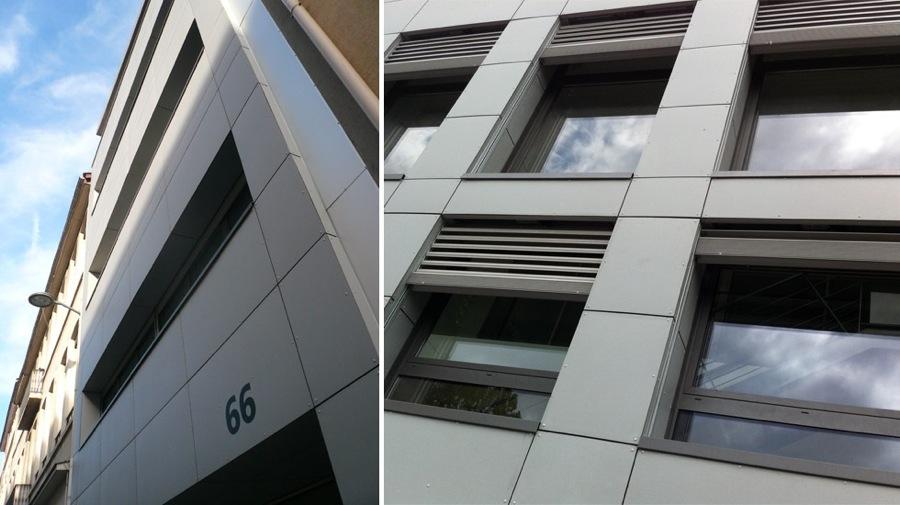 Maison individuelle à Caluire-façades sur rue-jy arrivetz architecte