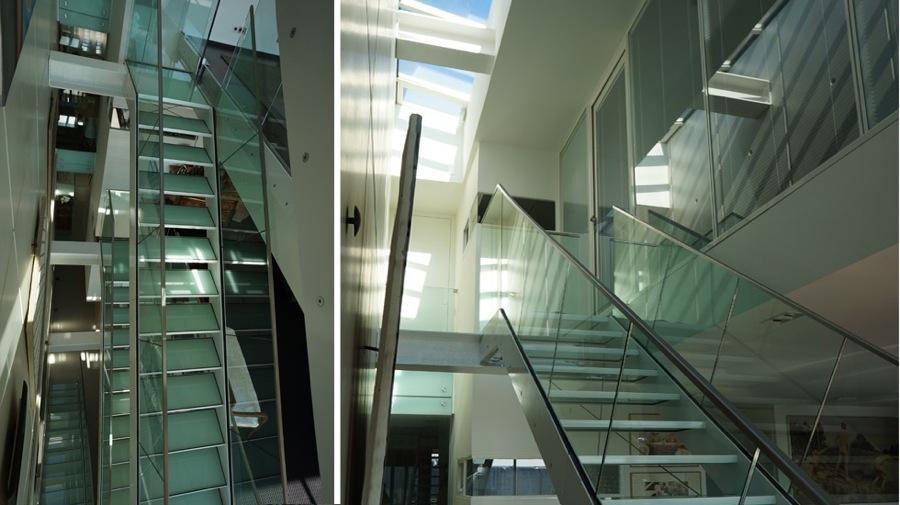 Maison individuelle à Caluire-escalier verre-jy arrivetz architecte