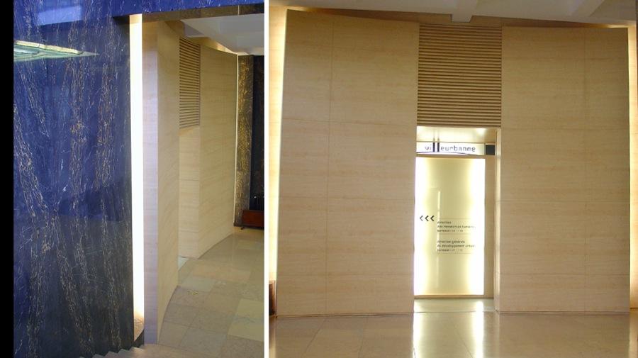 Rénovation Hotel de ville de Villeurbanne-détails hall d'honneur-jy arrivetz