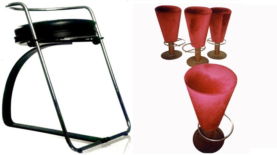 créations mobilier pour un bar à champagne-arrivetz Design